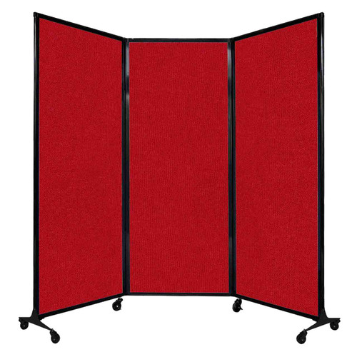 "QuickWall Folding Portable Partition 8'4"" x 6'8"" Red Fabric"