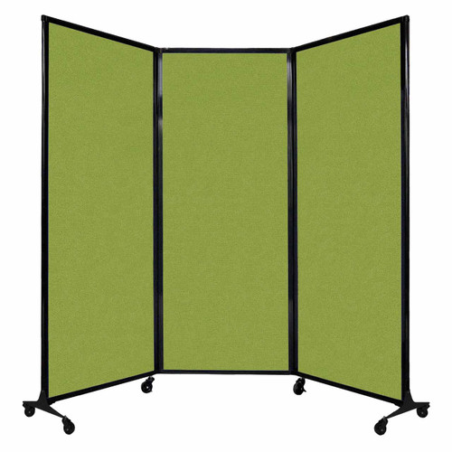 "QuickWall Folding Portable Partition 8'4"" x 6'8"" Lime Green Fabric"