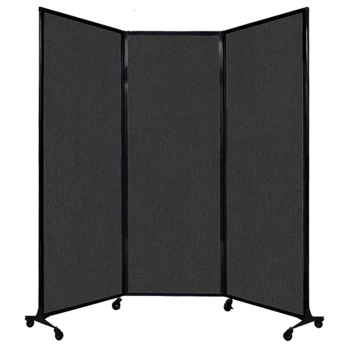 """QuickWall Folding Portable Partition 8'4"""" x 7'4"""" Black Fabric"""