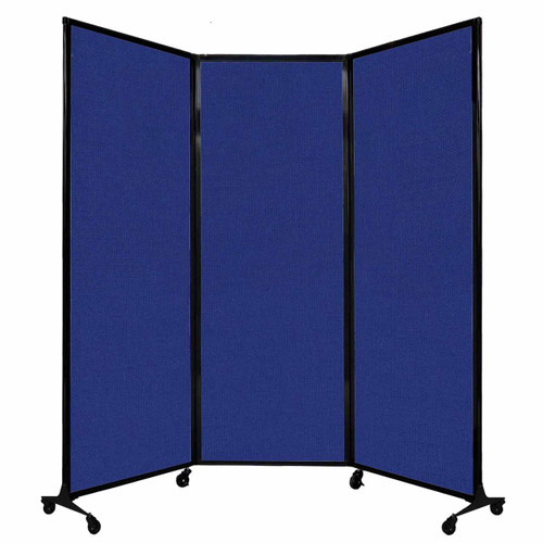 "QuickWall Folding Portable Partition 8'4"" x 7'4"" Royal Blue Fabric"