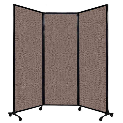 """QuickWall Folding Portable Partition 8'4"""" x 7'4"""" Latte Fabric"""