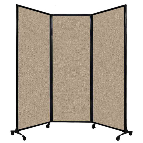 """QuickWall Folding Portable Partition 8'4"""" x 7'4"""" Rye Fabric"""