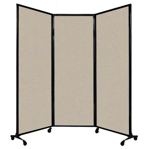 """QuickWall Folding Portable Partition 8'4"""" x 7'4"""" Sand Fabric"""