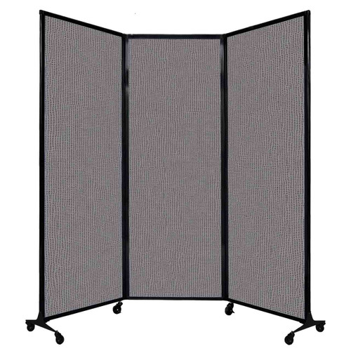 """QuickWall Folding Portable Partition 8'4"""" x 7'4"""" Slate Fabric"""