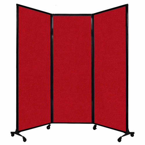 """QuickWall Folding Portable Partition 8'4"""" x 7'4"""" Red Fabric"""