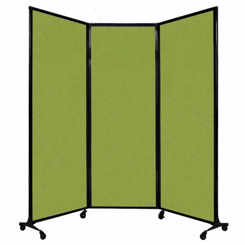 "QuickWall Folding Portable Partition 8'4"" x 7'4"" Lime Green Fabric"