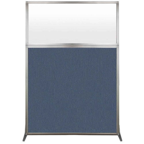 Hush Screen Portable Partition 4' x 6' Ocean Fabric Frosted Window Without Wheels