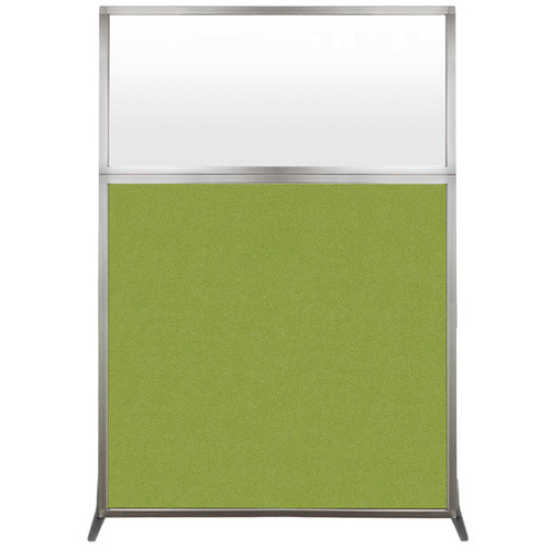 Hush Screen Portable Partition 4' x 6' Lime Green Fabric Frosted Window Without Wheels