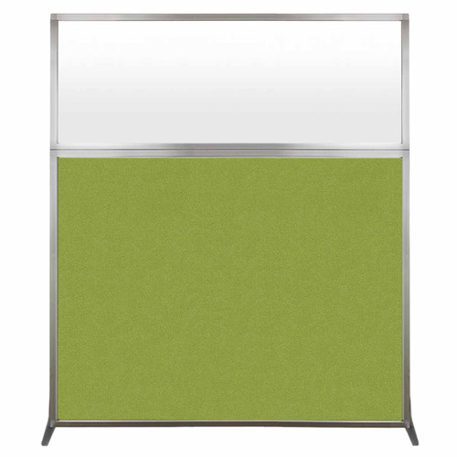 Hush Screen Portable Partition 5' x 6' Lime Green Fabric Frosted Window Without Wheels