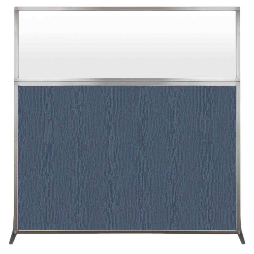 Hush Screen Portable Partition 6' x 6' Ocean Fabric Frosted Window Without Wheels