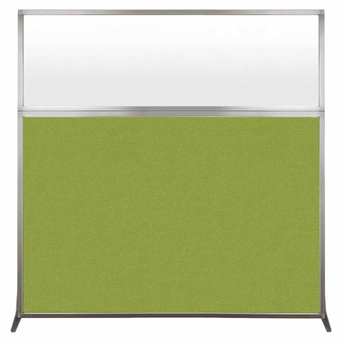 Hush Screen Portable Partition 6' x 6' Lime Green Fabric Frosted Window Without Wheels