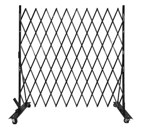 Lock-N-Block Collapsible Security Gate 6' x 6' Black Steel