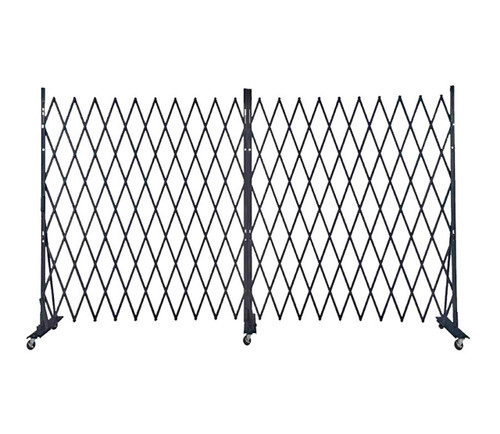 Lock-N-Block Collapsible Security Gate 12' x 6' Black Steel