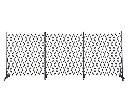 Lock-N-Block Collapsible Security Gate 18' x 6' Black Steel