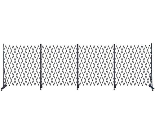 Lock-N-Block Collapsible Security Gate 24' x 6' Black Steel