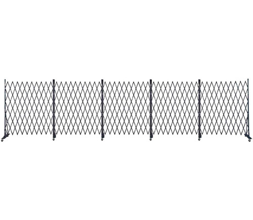 Lock-N-Block Collapsible Security Gate 30' x 6' Black Steel