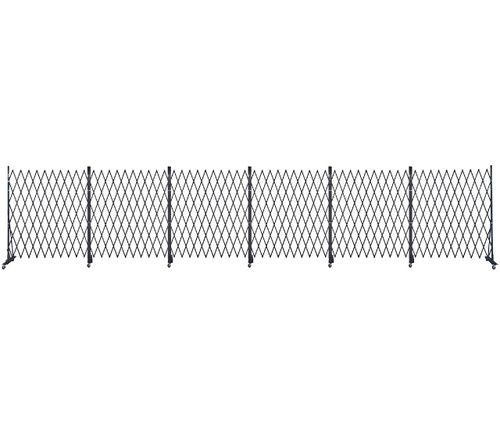 Lock-N-Block Collapsible Security Gate 36' x 6' Black Steel