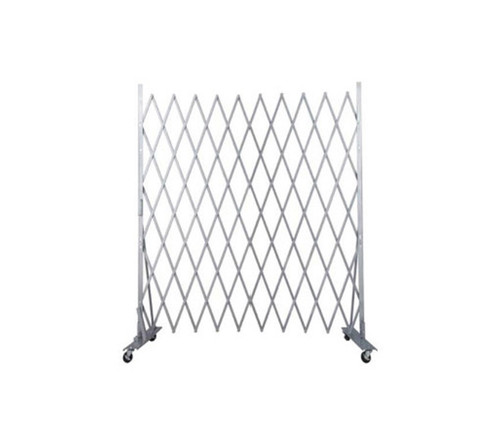 Lock-N-Block Collapsible Security Gate 6' x 6' Silver Steel