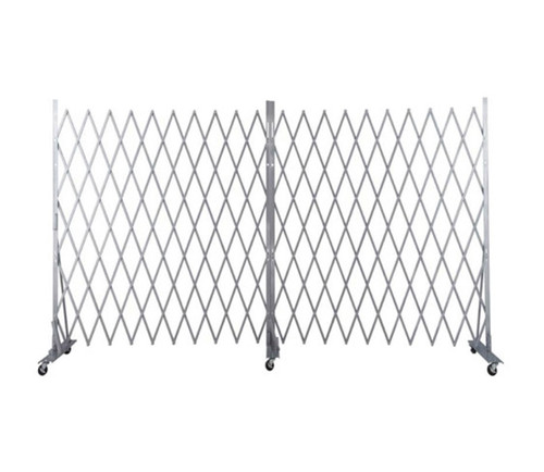 Lock-N-Block Collapsible Security Gate 12' x 6' Silver Steel