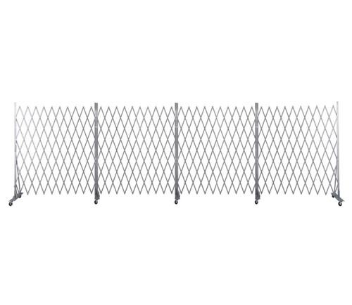 Lock-N-Block Collapsible Security Gate 24' x 6' Silver Steel