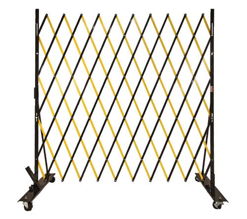 Lock-N-Block Collapsible Security Gate 6' x 6' Yellow Steel