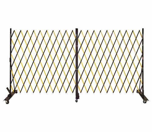 Lock-N-Block Collapsible Security Gate 12' x 6' Yellow Steel