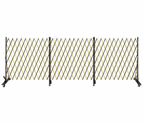 Lock-N-Block Collapsible Security Gate 18' x 6' Yellow Steel