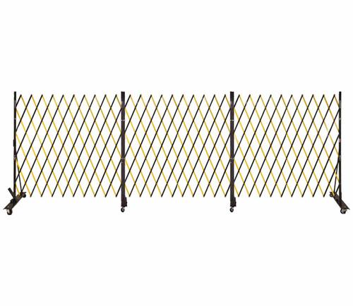 Lock-N-Block Collapsible Security Gate 18' x 6' Yellow Steel