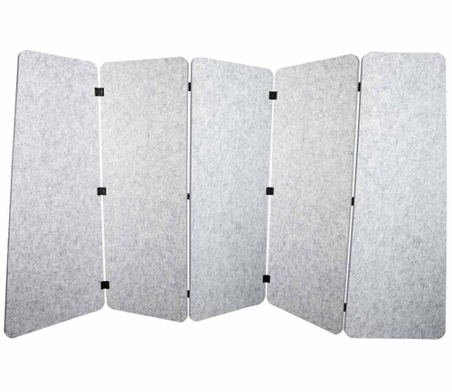 SoundSorb VersiPanel 10' x 5' Marble Gray High Density Polyester