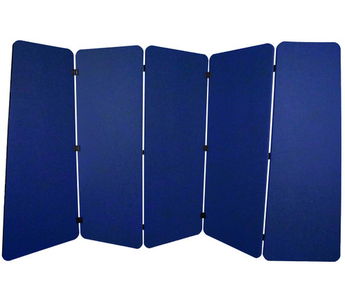 SoundSorb VersiPanel 10' x 5' Blue High Density Polyester