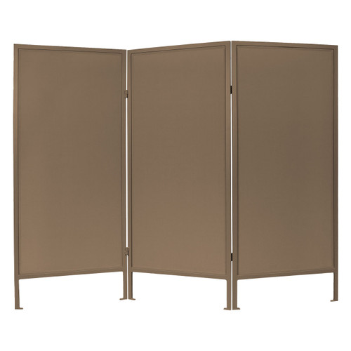 Folding Outdoor Privacy Screen 6' x 6' Brown Woven Polyester