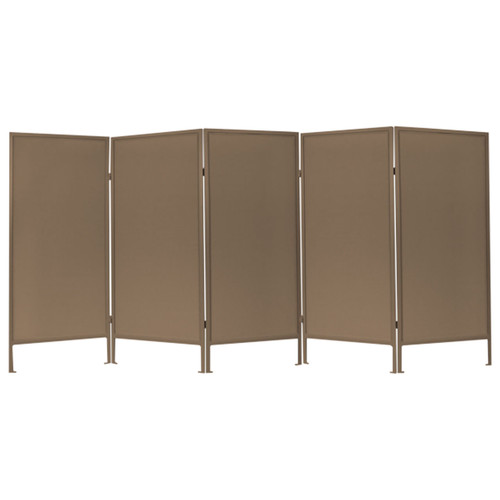 Folding Outdoor Privacy Screen 10' x 6' Brown Woven Polyester