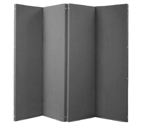 "VersiFold Acoustical Room Divider 8' x 6'6"" Gray Fabric"