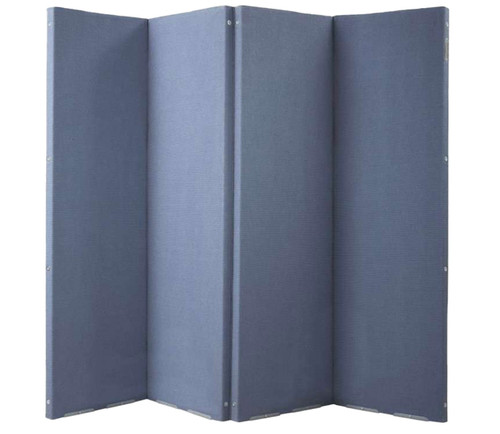 "VersiFold Acoustical Room Divider 8' x 6'6"" Blue  Fabric"