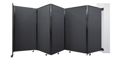 The Room Divider 360 Wall-Mounted Accordion Partition.