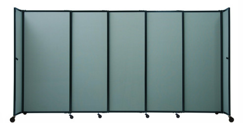 The folding bullet resistant room divider comes in a variety of widths making it easy to fit your space.