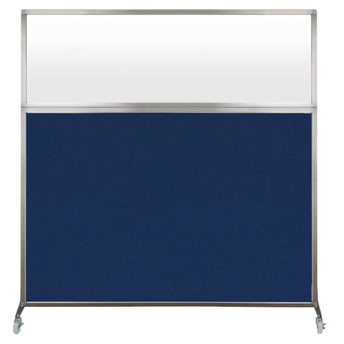 The Hush Screen with Frosted window and Navy Blue fabric.