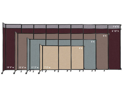 The Wall-Mounted StaightWall comes in 4 widths and 5 heights.