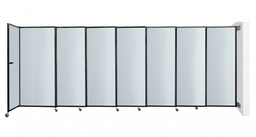 """The Wall-Mounted StraightWall Sliding Partition can expand up to 19'9"""""""