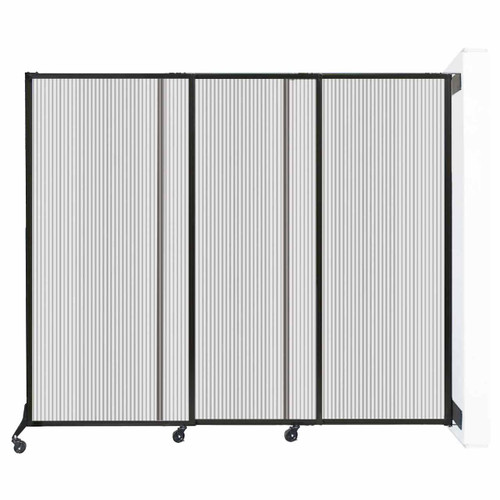 """Wall-Mounted QuickWall Sliding Partition 7' x 5'10"""" Clear Polycarbonate"""