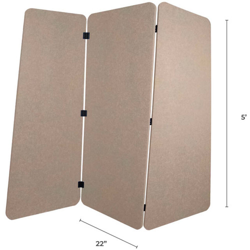 SoundSorb VersiPanel with dimensions.