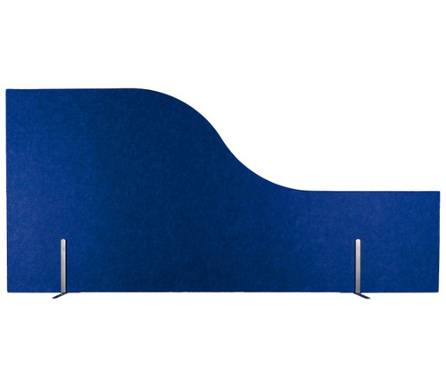 SoundSorb Desktop Privacy Panels with the wave in Blue.