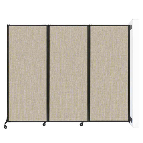 """Wall-Mounted QuickWall Folding Partition 8'4"""" x 6'8"""" Sand Fabric"""