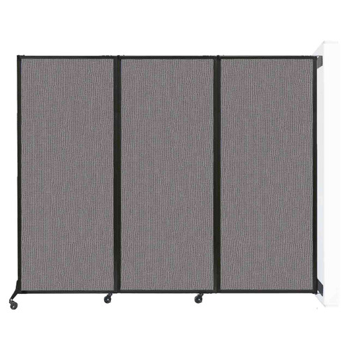 "Wall-Mounted QuickWall Folding Partition 8'4"" x 6'8"" Slate Fabric"