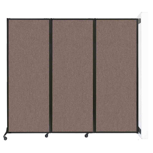 "Wall-Mounted QuickWall Folding Partition 8'4"" x 7'4"" Latte Fabric"