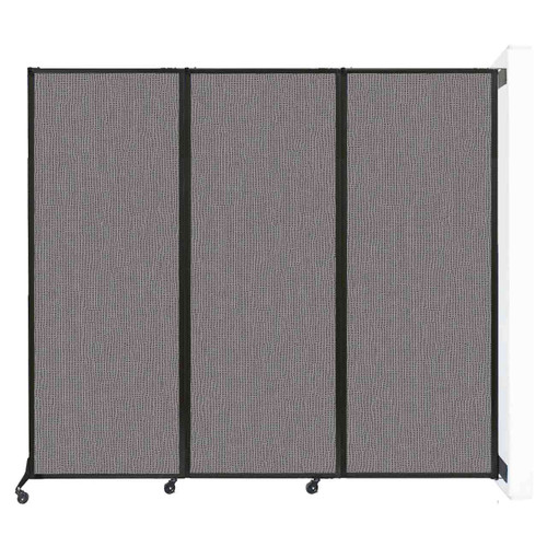 "Wall-Mounted QuickWall Folding Partition 8'4"" x 7'4"" Slate Fabric"