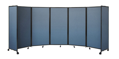 The Room Divider 360 Folding Portable Partition featuring industry leading rotating hinges and full sized end panels for stability.