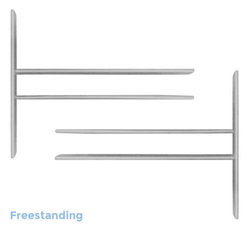 Dekstop Privacy Panel Mounts (Set of 2) (Set of 2) Freestanding