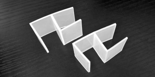 """Desktop Privacy Panel Connectors 1"""""""" x 1"""""""" Clear Plastic"""