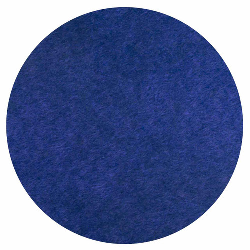 """Wall-Mounted SoundSorb Acoustic 12"""" Flat Circle Blue High Density Polyester"""